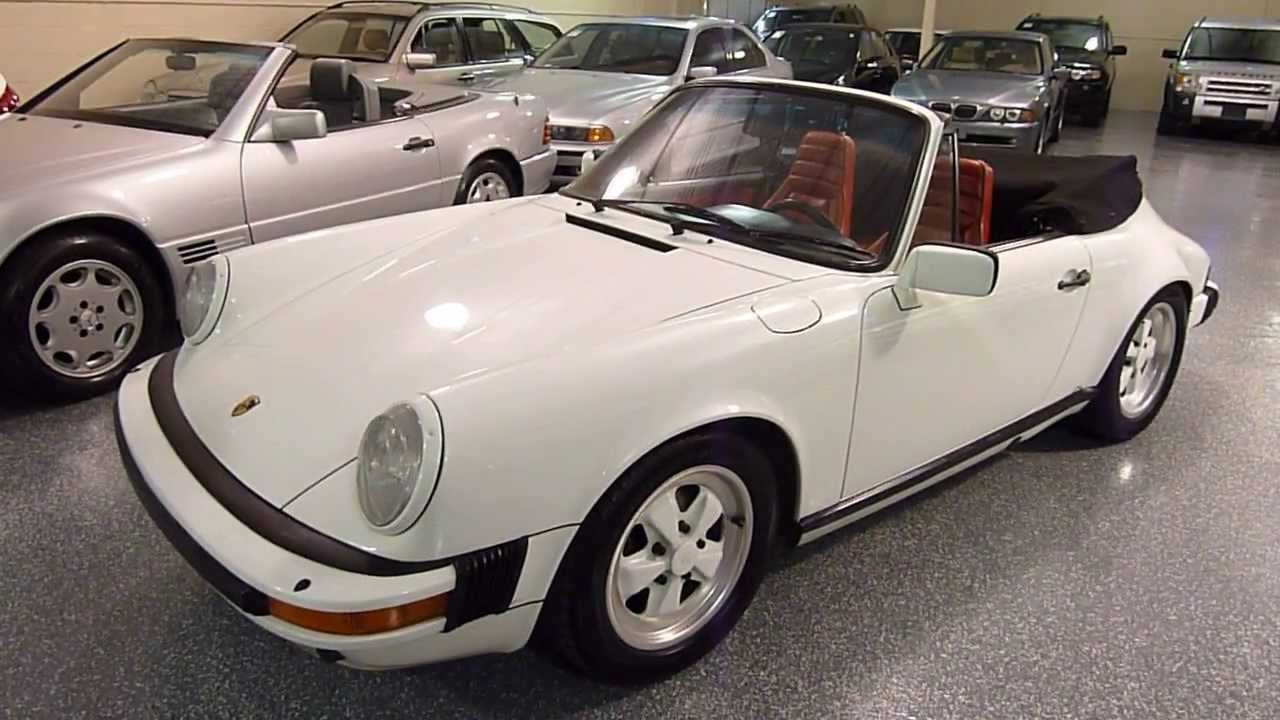 1984 Porsche 911 2dr Cabriolet Carrera Convertible 2223
