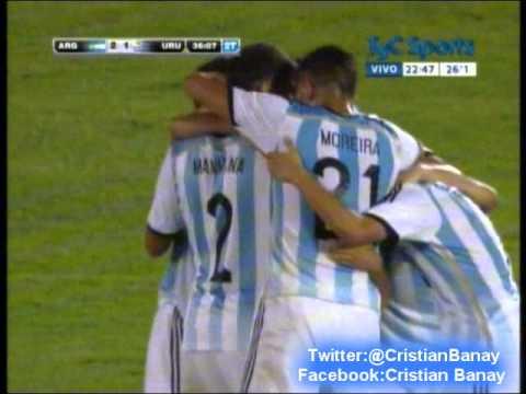 Argentina 2 Uruguay 1 (Radio Centenario Montevideo)  Hexagonal Sudamericano Sub 20 2015