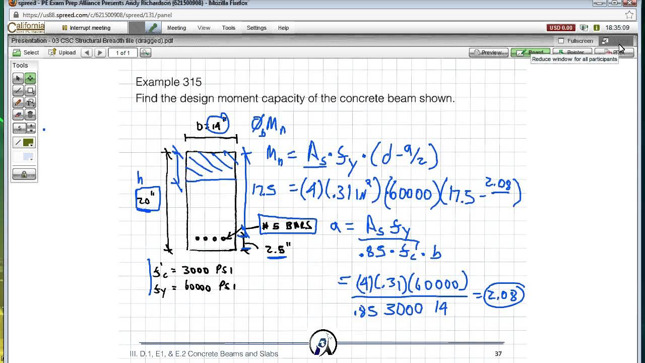 pe exam prep alliance structural engineering sample problem solution  youtube
