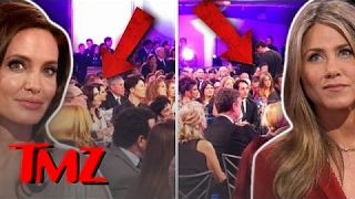 Jen And Angelina—In The Same Room! | TMZ