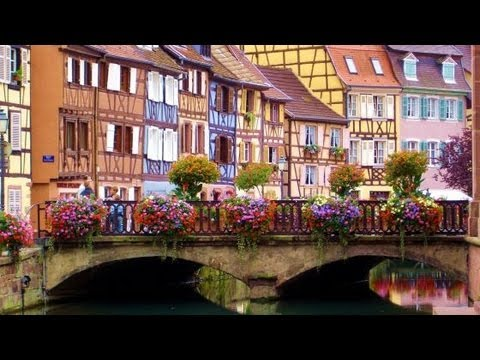 Hotel barge Panache cruising through the enchanting town of Saverne in Alsace-Lorraine