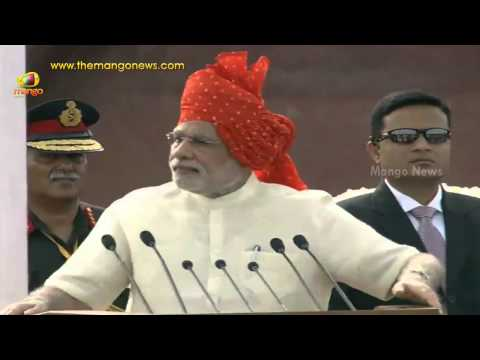 PM Narendra Modi Independence Day Speech at Red Fort - Part 2 -  68th Independence Day
