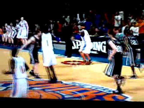 carmelo-hoop of the glass to stoudemire