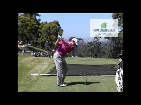 Lee Westwood 5-iron DL Golf Swing (Great Shot!)