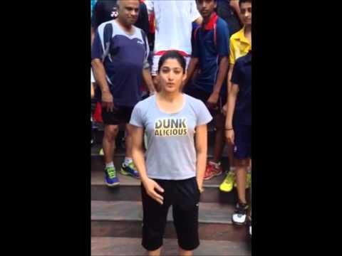 Ashwini Ponnappa ALS Ice Bucket Challenge