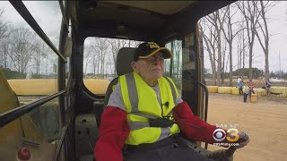 98-Year-Old Man Celebrates Birthday Smashing Cars, Playing With Construction Equipment