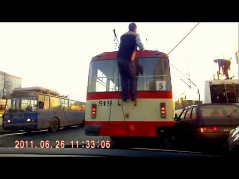 Гонки на троллейбусах. Финал // Trolley // Trolleybuses in Kirov, Russia // Trolleybus Crash