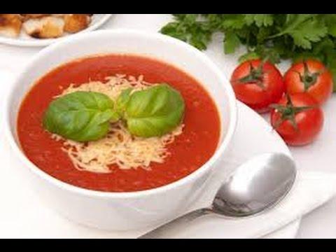 Томатный суп.Как приготовить томатный суп. Суп с помидорами и сыром.Domates çorbası