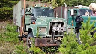 Antique Autocar Trucks & a Mack R-model
