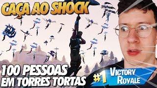 CAÇA AO SHOCK? 100 PLAYERS TENTANDO ME MATAR - FORTNITE
