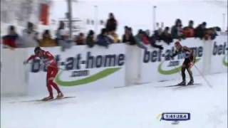 Northug destroys Teichmann in mens relay final! WSC Liberec 2009