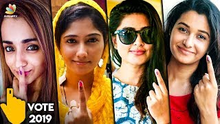 Kollywood Actress Cast Their Votes   Trisha , Bigg Boss Julie , Sneha , Priya Bhavani   Hot News