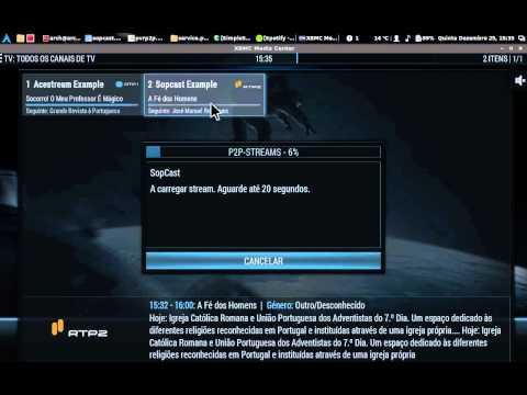 p2p-pvr w/ p2p-streams  - Sopcast channel example