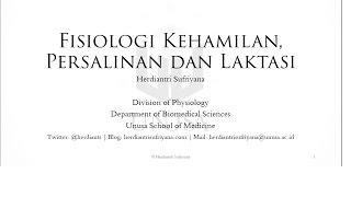 HIS -  Fisiologi Kehamilan, Persalinan dan Laktasi