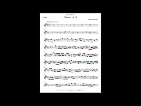 Pachelbel - Canon In D (Play Along)