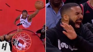 Kawhi Leonard CRAZY Dunk On Giannis, Drake HILARIOUS Reaction - Game 6 | May 25, 2019 NBA Playoffs!