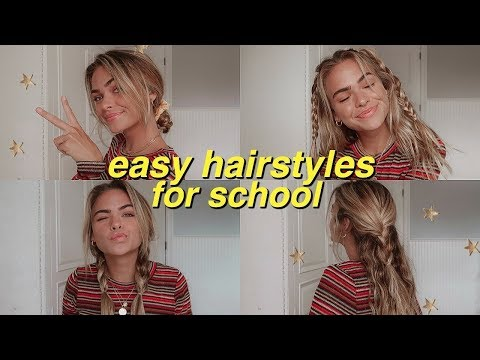 7 easy, heatless hairstyles for school! | Summer Mckeen - YouTube