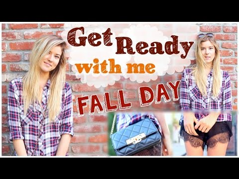 Get Ready with Me: Fall Day (Fall Hair, Makeup & Outfit)