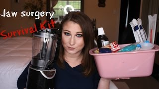 Jaw Surgery Survival Kit + 4 Month Update!!