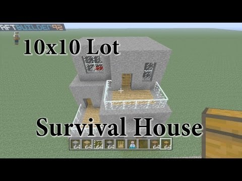 Minecraft 10x10 Lot Survival House