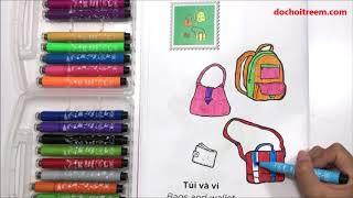 Đồ chơi tô màu trang phục quần áo P2, túi xách, váy đầm, giày dép...Colorring page (Chim Xinh)