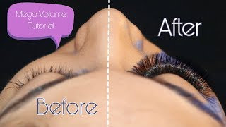 MEGA VOLUME LASH EXTENSION TUTORIAL STEP BY STEP  USING LASHES BY KINS