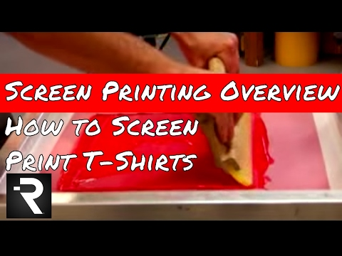 Screen Printing Overview How To Silk Screen Printing Shirts