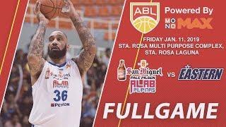 San Miguel Alab Pilipinas v Hong Kong Eastern | FULL GAME | 2018-2019 ASEAN Basketball League