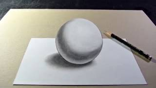 How to Draw a 3D Ball with Pencil