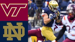 Virginia Tech vs #16 Notre Dame Highlights | NCAAF Week 10 | College Football Highlights