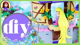 How to make long Rapunzel hair Easy DIY Craft for Lego minidoll Disney Princess