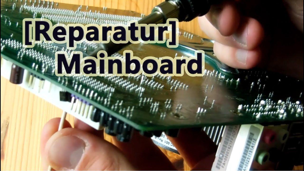 reparatur mainboard kondensatorschaden selber reparieren youtube. Black Bedroom Furniture Sets. Home Design Ideas