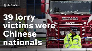 Essex lorry deaths: 39 bodies confirmed to be Chinese nationals
