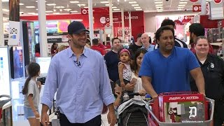 Tony Romo surprises Dallas Target shoppers with Father