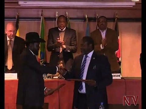 South Sudan warring parties sign peace deal.