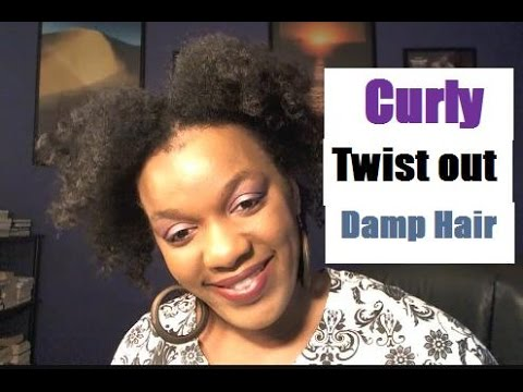 Natural Hairstyles For Black Women | Curly Twist-Out On Wet Hair | Afro-Textured