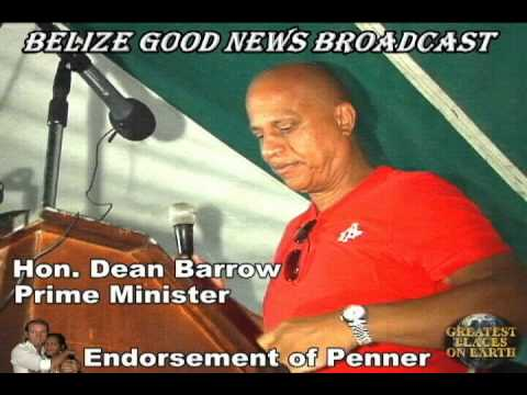 The endorsement of Minister Elvin Penner (Belize)