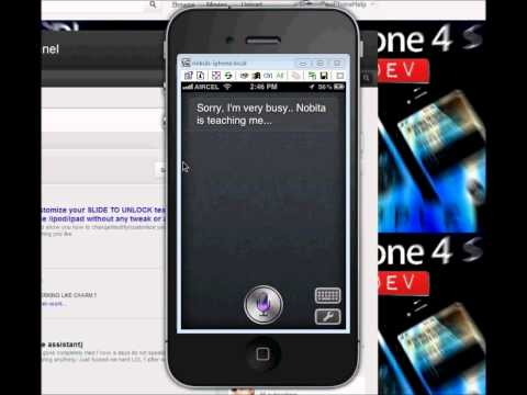 how to install Sara in your iPhone 2g / 3gs / 4 / 4s ipod touch 4g / 2g.ipad 2 / 1 & review