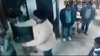 BJP leader beats VOLVO company employees - Live CCTV footage