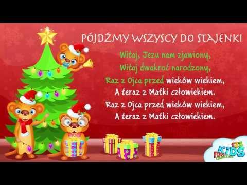 Pójdźmy Wszyscy Do Stajenki - Polskie Kolędy + Tekst (karaoke)