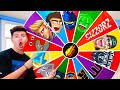 GIFTING Fortnite YouTubers With A GIANT MYSTERY WHEEL!