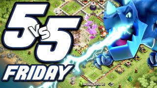 WE DESTROYED THEM!  5v5 Fridays w/ Clash Bashing!!  Clash of Clans