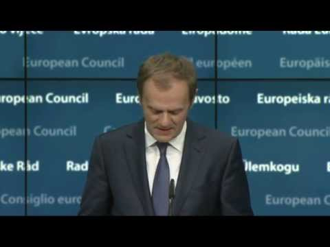 European Council: Press conference by Donald TUSK, Jean-Claude JUNCKER,, and Matteo RENZI,