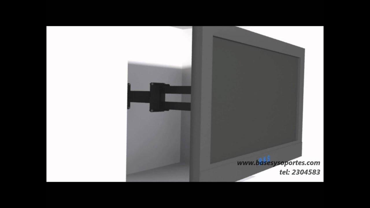 Como empotrar instalar un televisor led lcd en un mueble - El armario de la tv ...