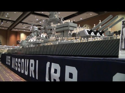 LEGO USS Missouri WWII battleship – Brickworld Fort Wayne 2015
