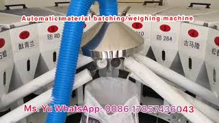 Automatic rubber material batching/weighing machine.
