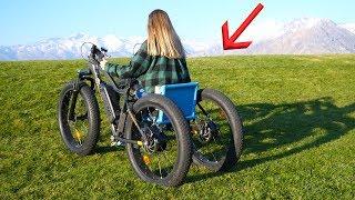 Homemade Off Road Electric Wheelchair - She had NO Idea!