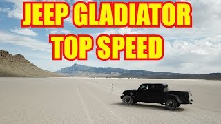 This is the TOP SPEED of my Jeep Gladiator!