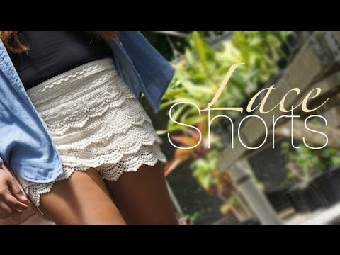 Style File - Summer Pairings: Lace Shorts
