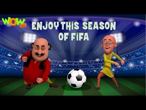 Motu Patlu | Enjoy this season of FIFA world cup 2018 | Wow Kidz thumbnail